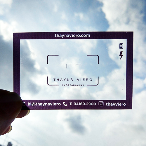 Cartão de Visita Acetato